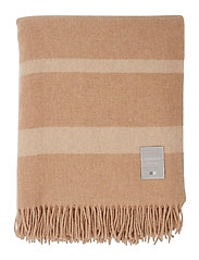 Hotel Wool Throw - LT BEIGE/WHITE