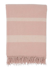 Hotel Wool Throw - PINK/WHITE