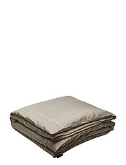Beige/White Sateen Star Framed Duvet - BEIGE/WHITE