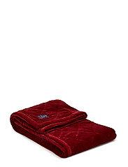 Quilt Velvet Bedspread - RED