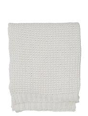 Knitted Cotton Throw - BEIGE