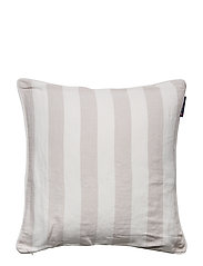 Viscose/Linen Striped Sham - BEIGE/WHITE