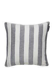 Viscose/Linen Striped Sham - BLUE/WHITE