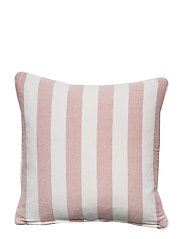 Viscose/Linen Striped Sham - PINK/WHITE