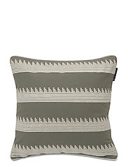 Embroidery Striped Sham - GREEN/WHITE