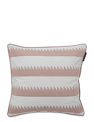 Embroidery Striped Sham - PINK/WHITE