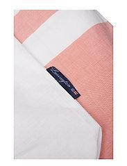 Lexington Home - Apricot Horizontal Striped Poplin Set - bedding sets - white/apricot - 1