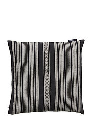 Striped Linen Cotton Sham - DK. GRAY