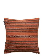 Striped Linen Cotton Sham - RUST