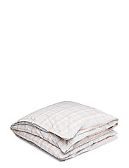 Beige Checked Madras Poplin Duvet - WHITE/BEIGE