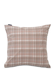 Pink Checked Madras Poplin Pillowcase - WHITE/PINK