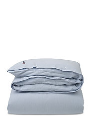 Blue Striped Seersucker Duvet - WHITE/BLUE