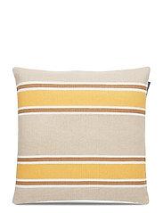 Striped Cotton Canvas Sham - YELLOW