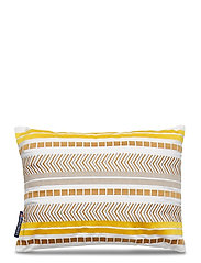 Embroidered Jacquard Sham - YELLOW
