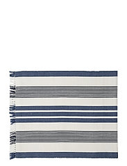 Striped Fringe Runner - WHITE/BLUE