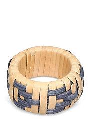 Wicker Napkin Ring - BLUE