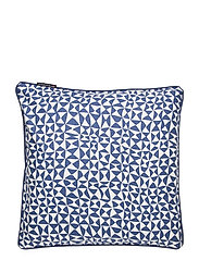 Coral Printed Cotton Pillow Cover - BLUE