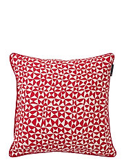 Coral Printed Cotton Pillow Cover - RED