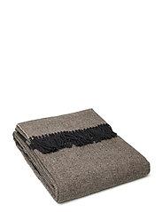 Herringbone Recycled Wool Throw - BROWN
