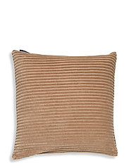 Velvet Cord Cotton Pillow Cover - DK. BEIGE