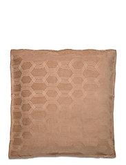 Jacquard Cotton Velvet Pillow Cover 65x65cm - DK. BEIGE