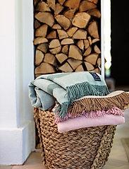 Lexington Home - Herringbone Recycled Wool Throw - blankets - beige - 4