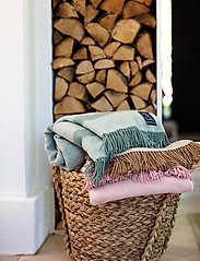 Lexington Home - Herringbone Recycled Wool Throw - blankets - pink - 4