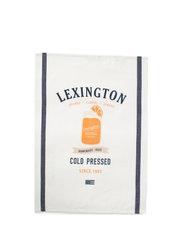 Printed Cotton Twill Kitchen Towel - OFF WHITE/BLUE/ORANGE
