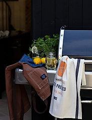 Lexington Home - Printed Cotton Twill Kitchen Towel - keittiöpyyhkeet - off white/blue/orange - 2