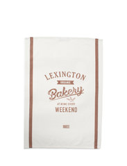 Printed Cotton Twill Kitchen Towel - OFF WHITE/BROWN