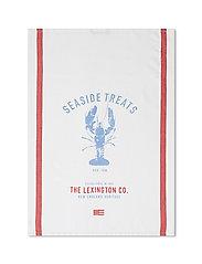 Lobster Cotton Twill Kitchen Towel - WHITE/RED/BLUE