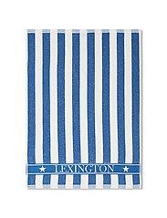 Striped Logo Organic Cotton Terry Kitchen Towel - BLUE/WHITE