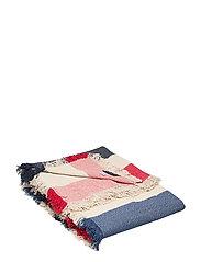 Block Striped Cotton Blanket - MULTI
