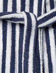 Lexington Home - Striped Cotton-Mix Terry Robe - yö- & oloasut - blue/white - 4