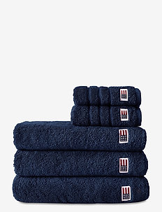 Original Towel Navy - hand towels & bath towels - navy