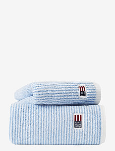 Original Towel White/Blue Striped - ręczniki kąpielowe - white/blue