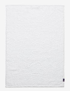 Monogram Towel Letter T - towels - white