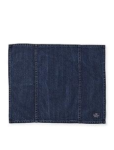 Icons Cotton Twill Denim Placemat - bordbrikker, glassunderlag & bordskånere - denim blue
