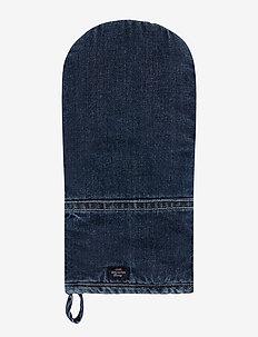 Icons Cotton Twill Denim Mitten - mitaines de four, gants et maniques - denim blue