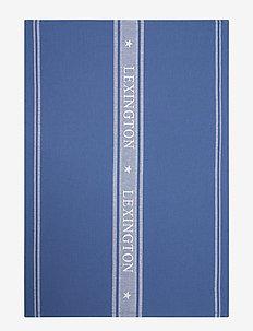 Icons Cotton Jacquard Star Kitchen Towel - keittiöpyyhkeet - blue/white