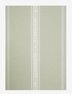 Icons Cotton Jacquard Star Kitchen Towel - keittiöpyyhkeet - sage green/white
