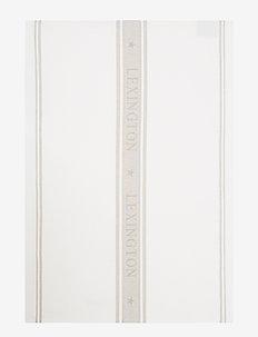 Icons Cotton Jacquard Star Kitchen Towel - keittiöpyyhkeet - white/beige