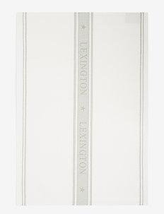 Icons Cotton Jacquard Star Kitchen Towel - keittiöpyyhkeet - white/sage green