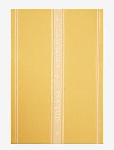 Icons Cotton Jacquard Star Kitchen Towel - keittiöpyyhkeet - yellow/white
