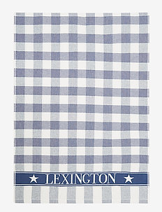 Icons Checked Cotton Terry Kitchen Towel - keittiöpyyhkeet - blue/white