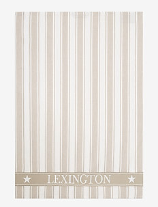 Icons Cotton Twill Waffle Striped Kitchen Towel - keittiöpyyhkeet - beige/white