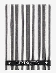 Icons Cotton Twill Waffle Striped Kitchen Towel - keittiöpyyhkeet - black/white