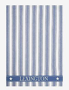 Icons Cotton Twill Waffle Striped Kitchen Towel - keittiöpyyhkeet - blue/white