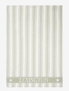 Icons Cotton Twill Waffle Striped Kitchen Towel - keittiöpyyhkeet - sage green/white