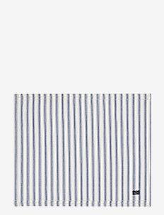 Icons Cotton Herringbone Striped Placemat - sets de table et dessous de verre - blue/white